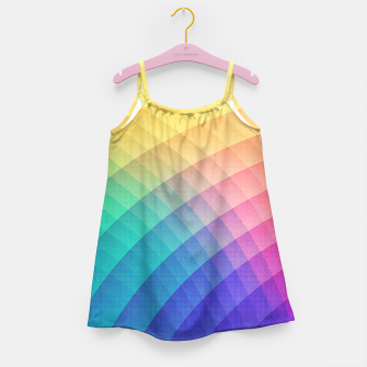 Spectrum Bomb! Fruity Fresh (HDR Rainbow Colorful Experimental Pattern) Girl's Dress miniature