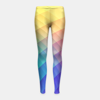 Miniaturka Spectrum Bomb! Fruity Fresh (HDR Rainbow Colorful Experimental Pattern) Girl's Leggings, Live Heroes