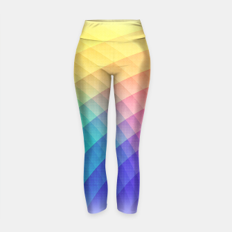 Thumbnail image of Spectrum Bomb! Fruity Fresh (HDR Rainbow Colorful Experimental Pattern) Yoga Pants, Live Heroes