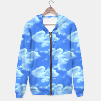 Thumbnail image of Blue Skies Photographic Pattern Hoodie, Live Heroes