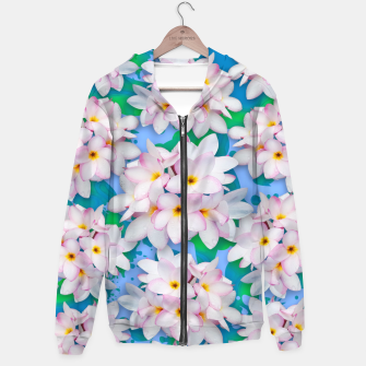 Thumbnail image of Plumeria Bouquet Exotic Summer Pattern  Hoodie, Live Heroes