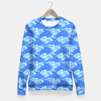 Thumbnail image of Blue Skies Photographic Pattern Fitted Waist Sweater, Live Heroes