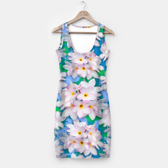 Thumbnail image of Plumeria Bouquet Exotic Summer Pattern  Simple Dress, Live Heroes