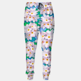 Thumbnail image of Plumeria Bouquet Exotic Summer Pattern  Sweatpants, Live Heroes