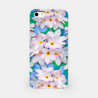 Thumbnail image of Plumeria Bouquet Exotic Summer Pattern  iPhone Case, Live Heroes
