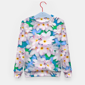 Thumbnail image of Plumeria Bouquet Exotic Summer Pattern  Kid's Sweater, Live Heroes
