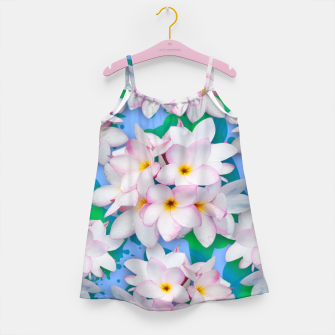 Thumbnail image of Plumeria Bouquet Exotic Summer Pattern  Girl's Dress, Live Heroes