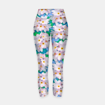 Thumbnail image of Plumeria Bouquet Exotic Summer Pattern  Yoga Pants, Live Heroes