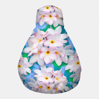 Thumbnail image of Plumeria Bouquet Exotic Summer Pattern  Pouf, Live Heroes