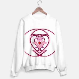 Thumbnail image of Star Cross Flaming Hearts X In Loops Of Pearl Red Sweater regular, Live Heroes