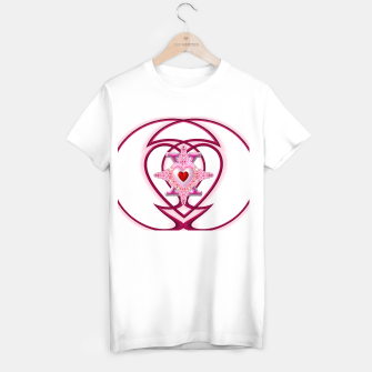 Thumbnail image of Star Cross Flaming Hearts X In Loops Of Pearl Red T-shirt regular, Live Heroes