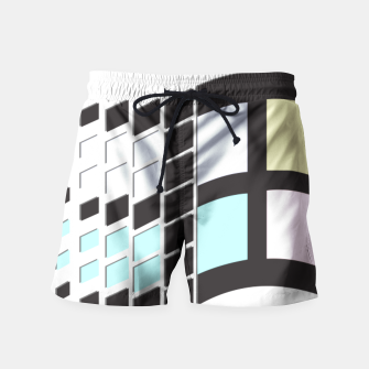 Thumbnail image of Micro Pastel Windows Swim Shorts, Live Heroes