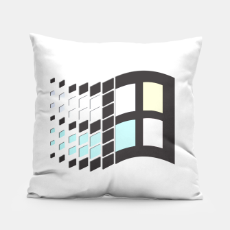 Thumbnail image of Micro Pastel Windows Pillow, Live Heroes