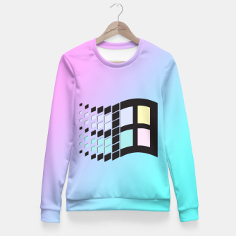 Thumbnail image of Micro Pastel (BG) Windows Fitted Waist Sweater, Live Heroes