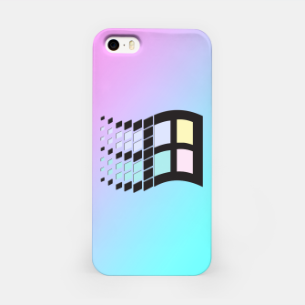 Thumbnail image of Micro Pastel (BG) Windows iPhone Case, Live Heroes