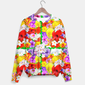 Thumbnail image of Exotic Flowers Colorful Explosion  Sweater, Live Heroes
