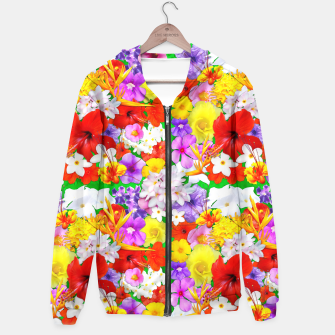 Thumbnail image of Exotic Flowers Colorful Explosion  Hoodie, Live Heroes