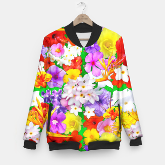 Thumbnail image of Exotic Flowers Colorful Explosion  Baseball Jacket, Live Heroes