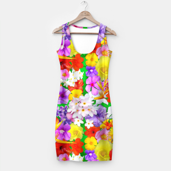 Thumbnail image of Exotic Flowers Colorful Explosion  Simple Dress, Live Heroes