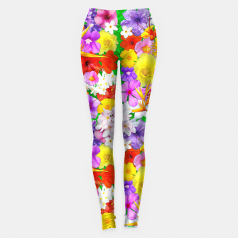 Thumbnail image of Exotic Flowers Colorful Explosion  Leggings, Live Heroes