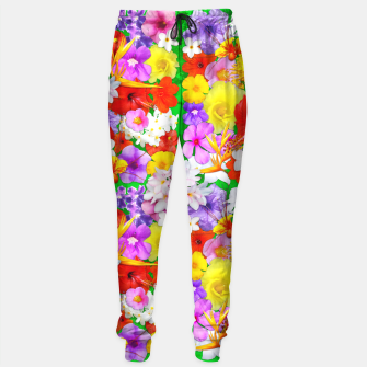 Thumbnail image of Exotic Flowers Colorful Explosion  Sweatpants, Live Heroes