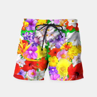 Thumbnail image of Exotic Flowers Colorful Explosion  Swim Shorts, Live Heroes