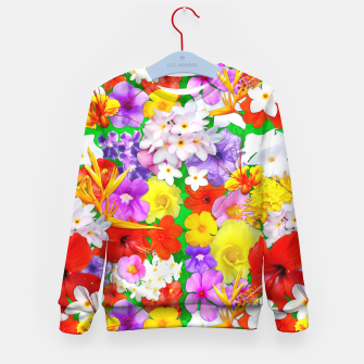 Thumbnail image of Exotic Flowers Colorful Explosion  Kid's Sweater, Live Heroes
