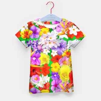 Thumbnail image of Exotic Flowers Colorful Explosion  Kid's T-shirt, Live Heroes