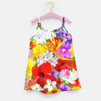Thumbnail image of Exotic Flowers Colorful Explosion  Girl's Dress, Live Heroes