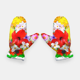 Thumbnail image of Exotic Flowers Colorful Explosion  Gloves, Live Heroes