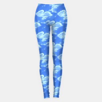 Thumbnail image of Blue Skies Photographic Pattern Leggings, Live Heroes