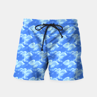 Thumbnail image of Blue Skies Photographic Pattern Swim Shorts, Live Heroes