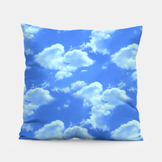 Thumbnail image of Blue Skies Photographic Pattern Pillow, Live Heroes