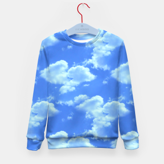Thumbnail image of Blue Skies Photographic Pattern Kid's Sweater, Live Heroes