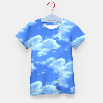 Thumbnail image of Blue Skies Photographic Pattern Kid's T-shirt, Live Heroes