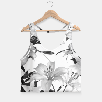 Thumbnail image of Tropical Lilies Crop Top, Live Heroes