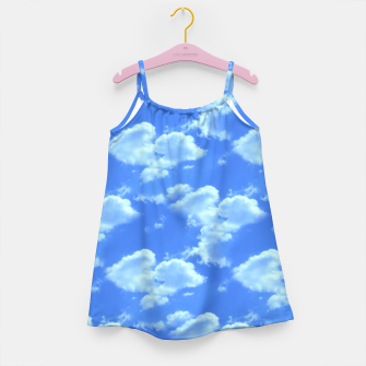 Thumbnail image of Blue Skies Photographic Pattern Girl's Dress, Live Heroes