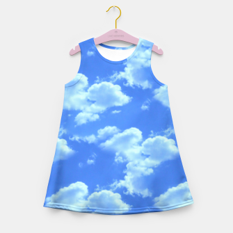 Thumbnail image of Blue Skies Photographic Pattern Girl's Summer Dress, Live Heroes