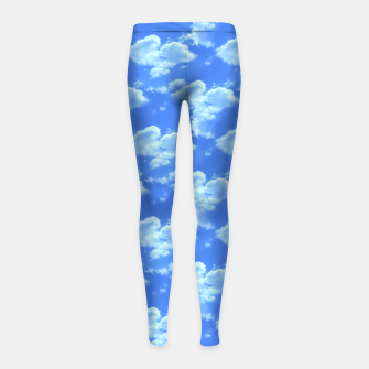 Thumbnail image of Blue Skies Photographic Pattern Girl's Leggings, Live Heroes
