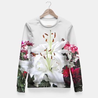 Thumbnail image of Pretty Lilies Fitted Waist Sweater, Live Heroes