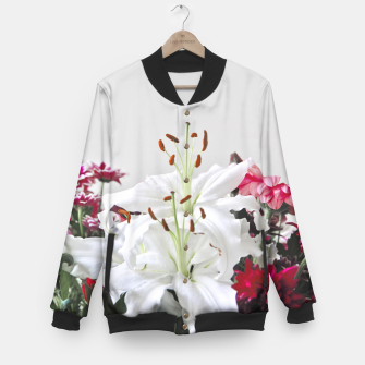 Thumbnail image of Pretty Lilies Baseball Jacket, Live Heroes