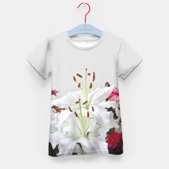 Thumbnail image of Pretty Lilies Kid's T-shirt, Live Heroes