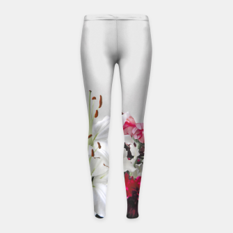 Thumbnail image of Pretty Lilies Girl's Leggings, Live Heroes