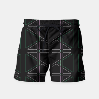 Thumbnail image of Stain Glassed  Swim Shorts, Live Heroes