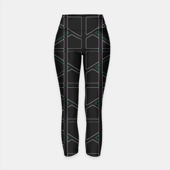 Thumbnail image of Stain Glassed  Yoga Pants, Live Heroes