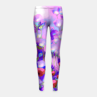 Thumbnail image of Spring Blush, Mauve Moods Girl's Leggings, Live Heroes