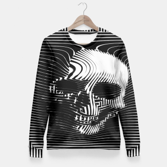 Thumbnail image of Skull Lines Fitted Waist Sweater, Live Heroes