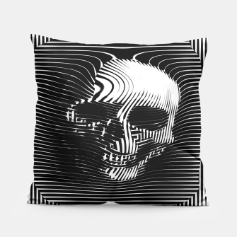 Thumbnail image of Skull Lines Pillow, Live Heroes