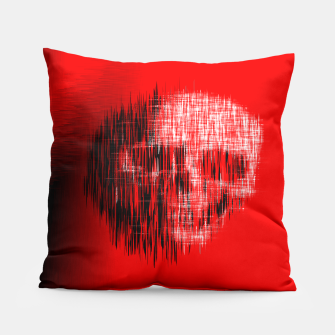 Thumbnail image of Etched Skull Pillow, Live Heroes