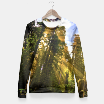 Thumbnail image of Magical Redwood Forest Fitted Waist Sweater, Live Heroes